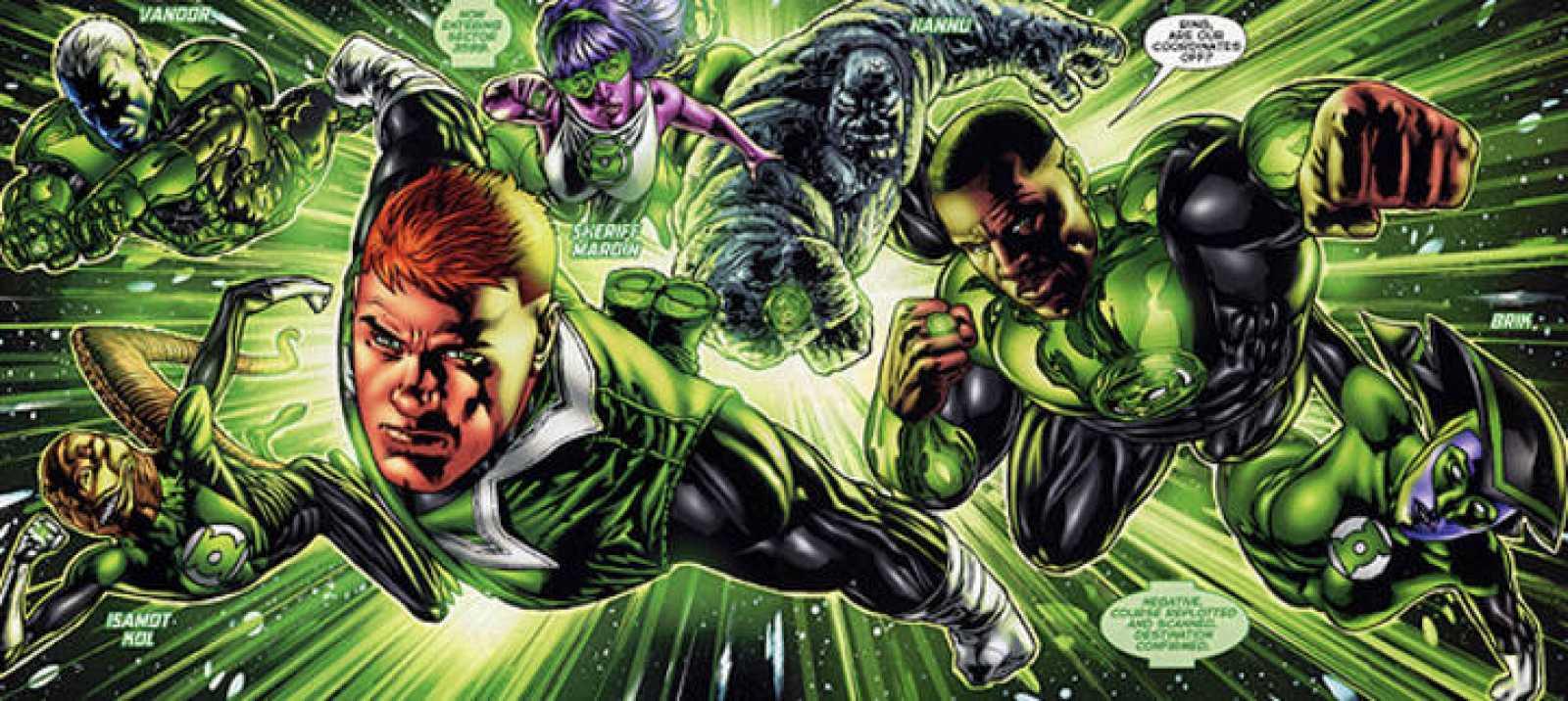 James Steward y Hal Jordan Green Lantern Corps