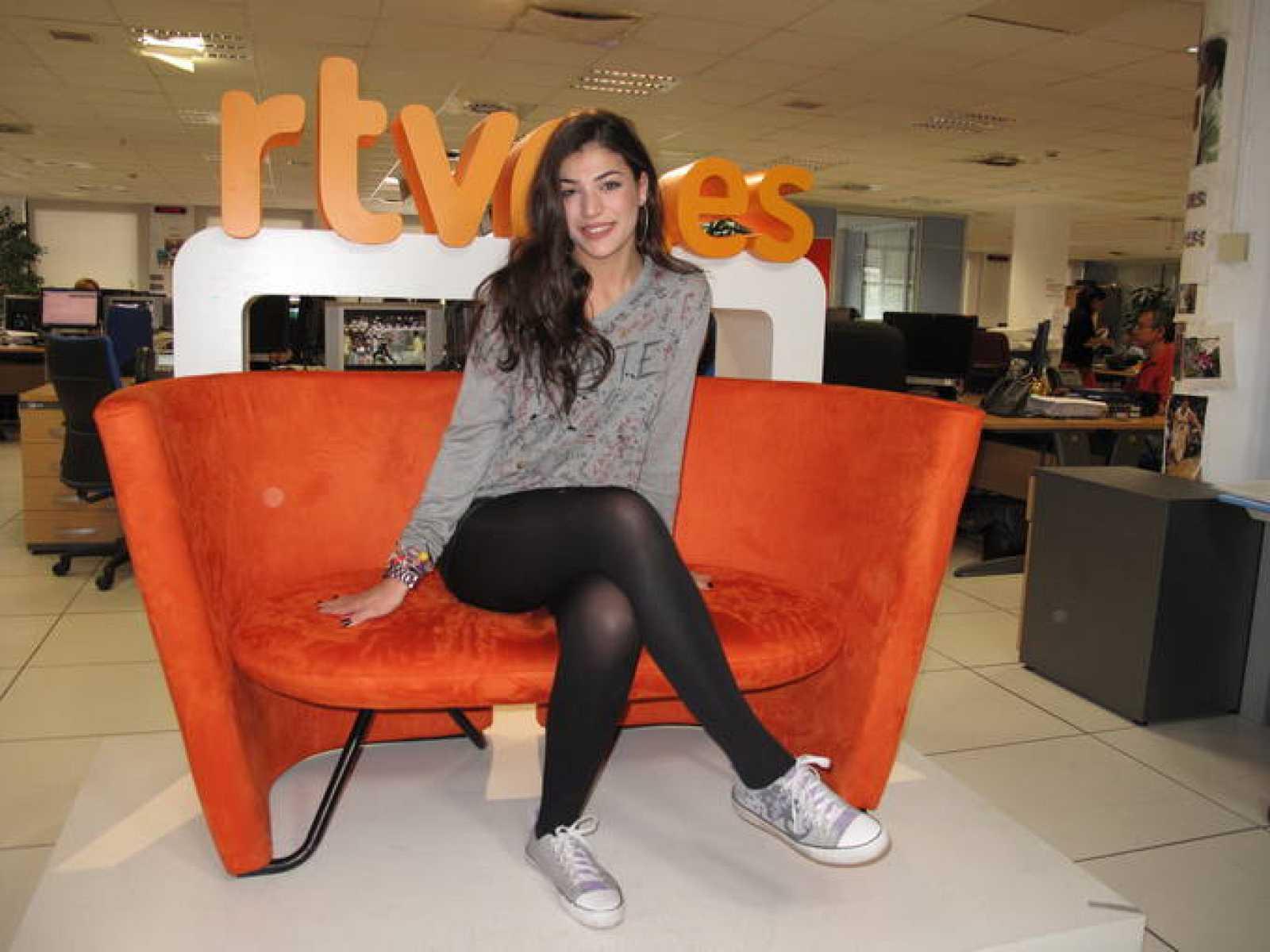 Ivi Adamou, en el sofá de celebrities de Rtve.es
