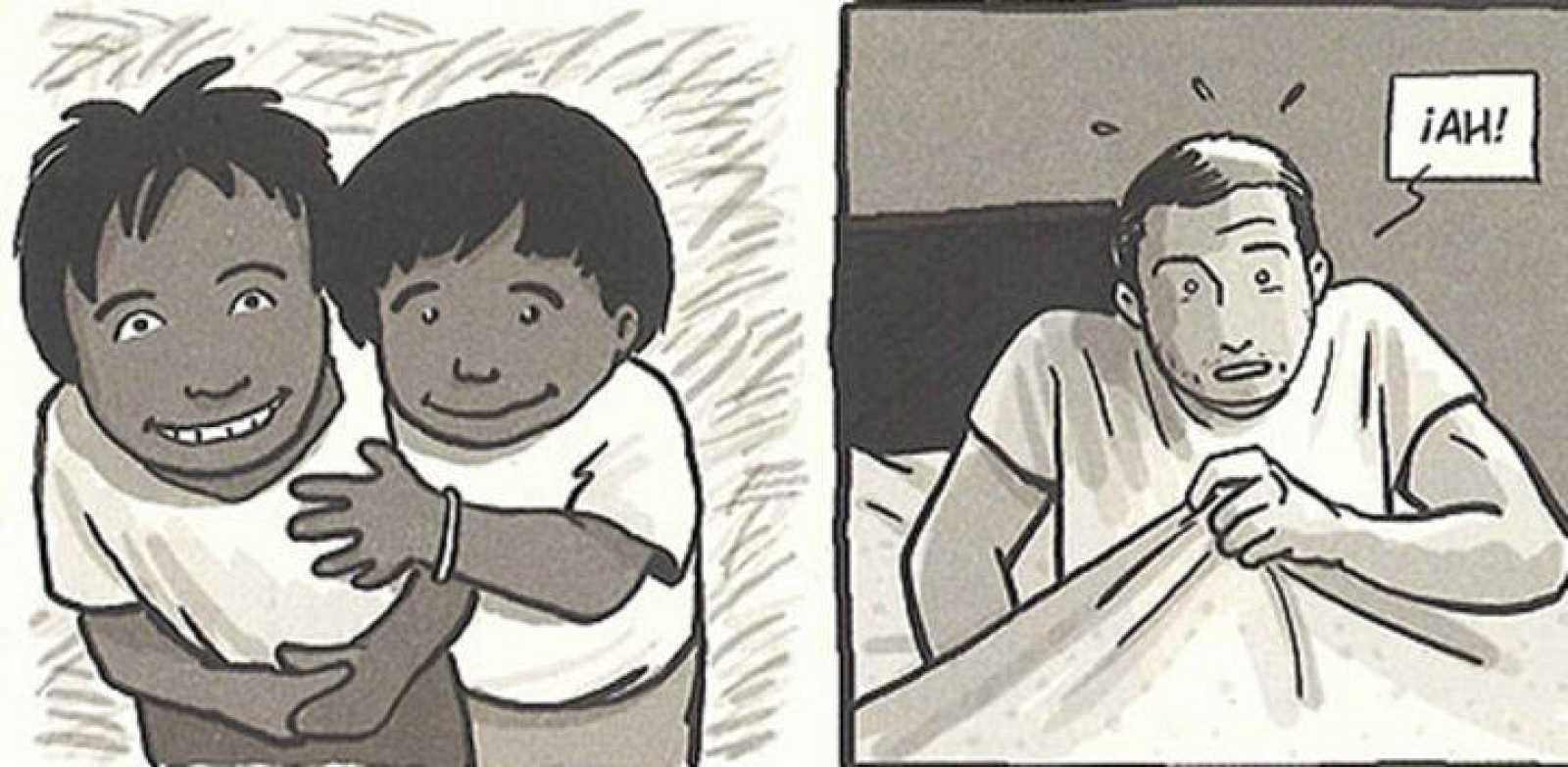 Viñetas de 'Sonrisas de Bombay', de Jaume Sanllorente y Susanna Martín