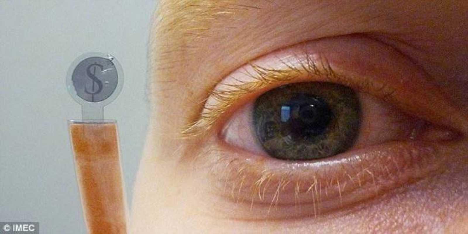 Estas lentillas  llevan incorporada una pantalla LCD de cristal líquido.