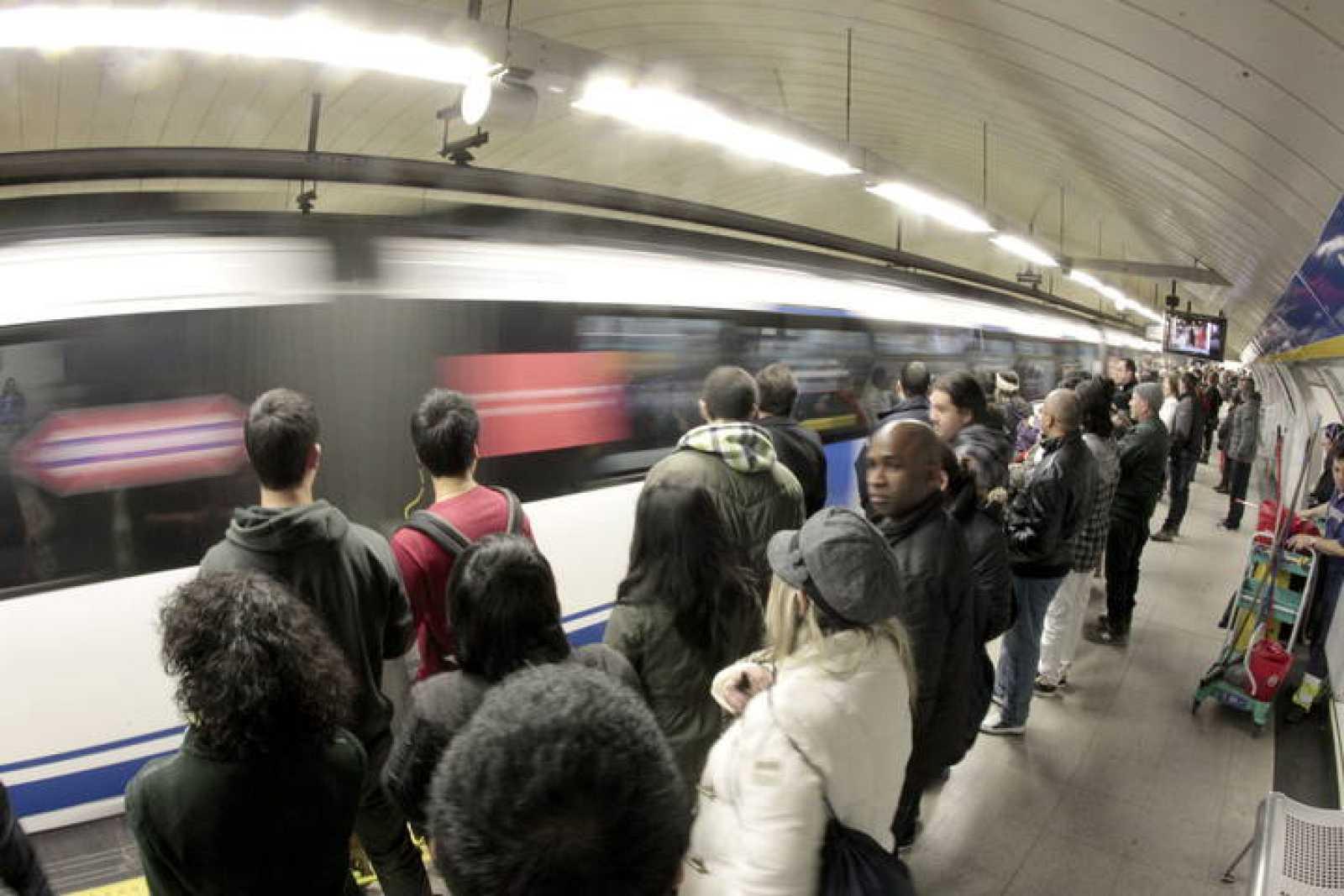 Huelga trabajadores Metro de Madrid