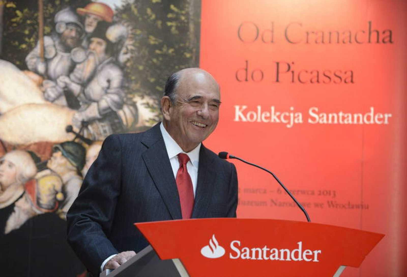 El presidente del Santander, Emilio Botín