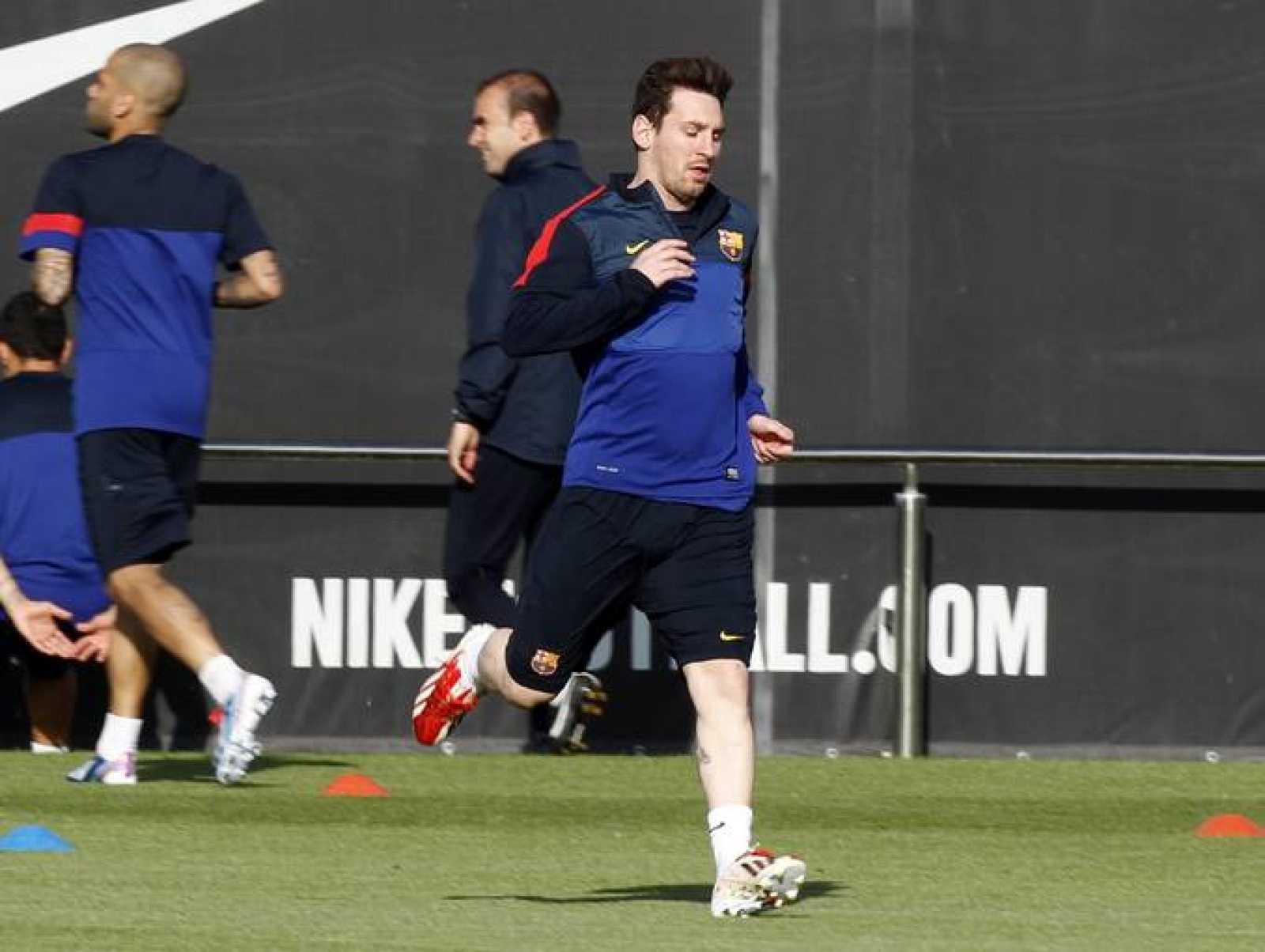 Entrenamiento de Messi