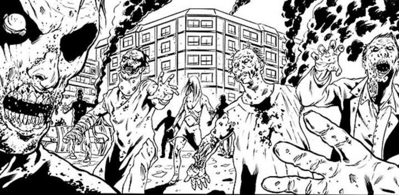 Detalle de una viñeta de 'Apocalipsis Z', de Manel Loureiro y Vicente Vegas