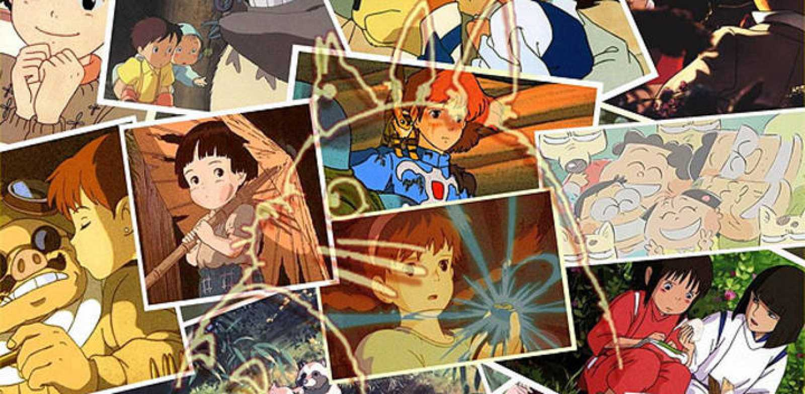 Montaje fotográfico con varios de los éxitos de Ghibli