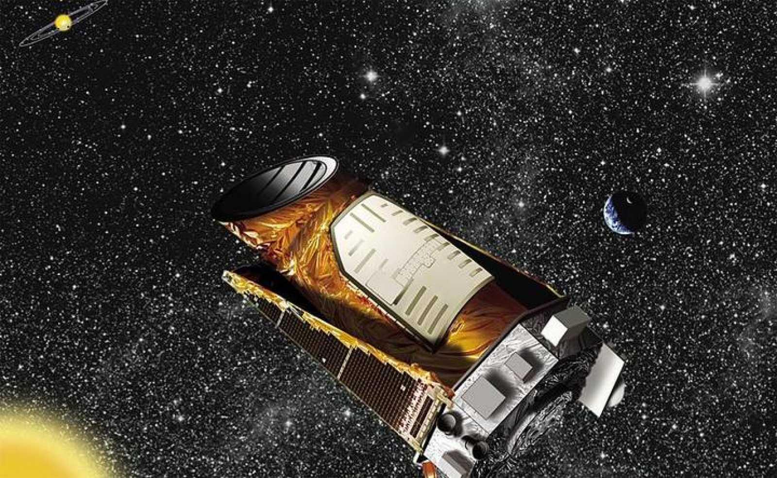 Impresión artística del Kepler en órbita