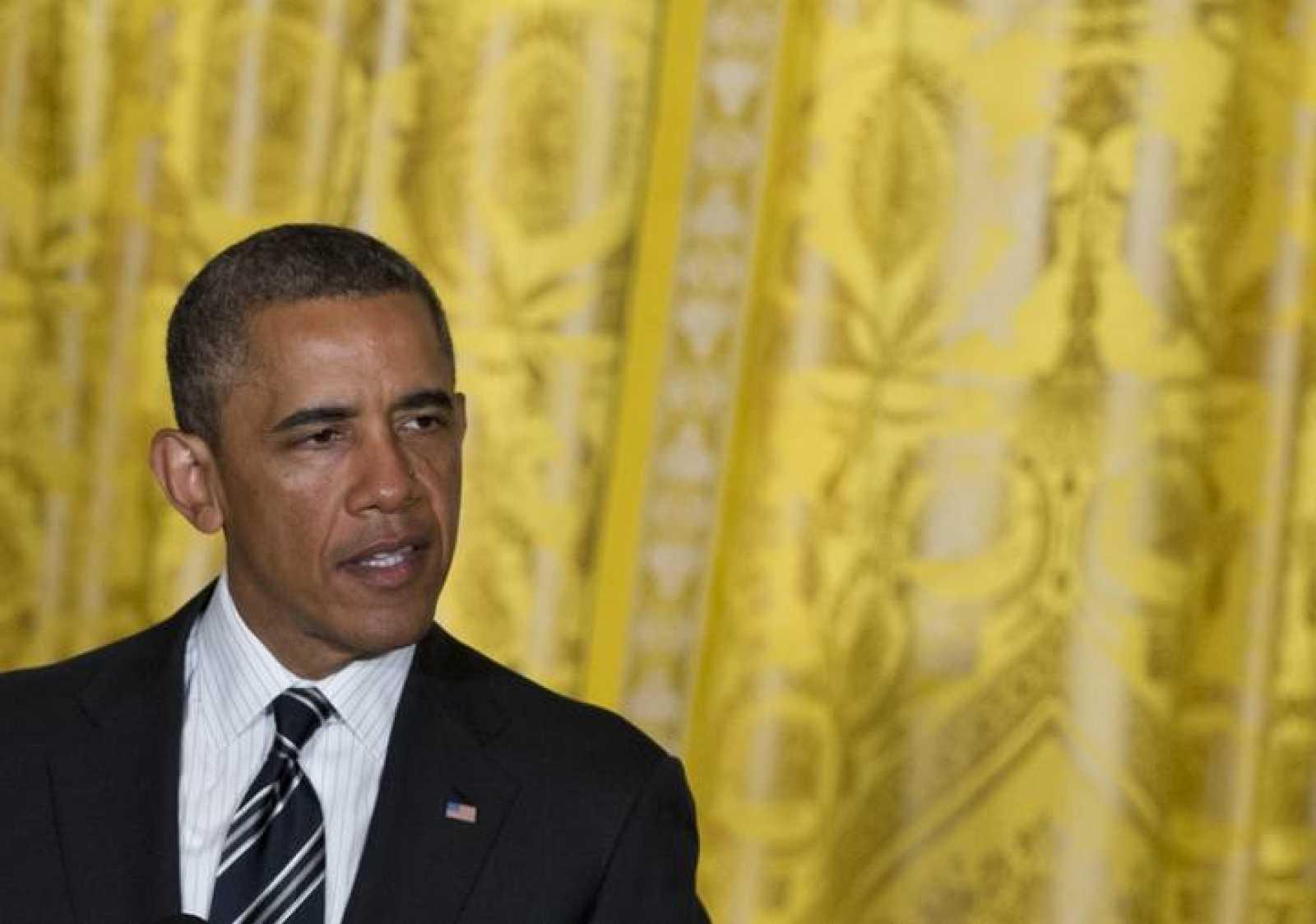 El presidente de EE.UU., Barack Obama, durante un acto en la Casa Blanca, el 13 de junio