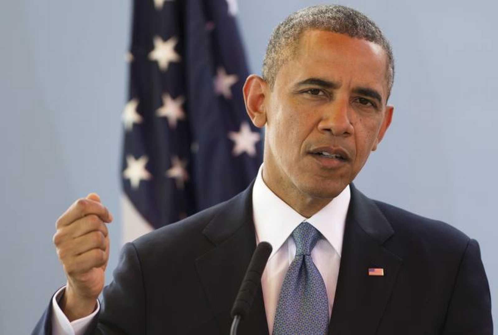El presidente de EE.UU., Barack Obama, habla, este 27 de junio, al comienzo de su gira africana, en Dakar, Senegal