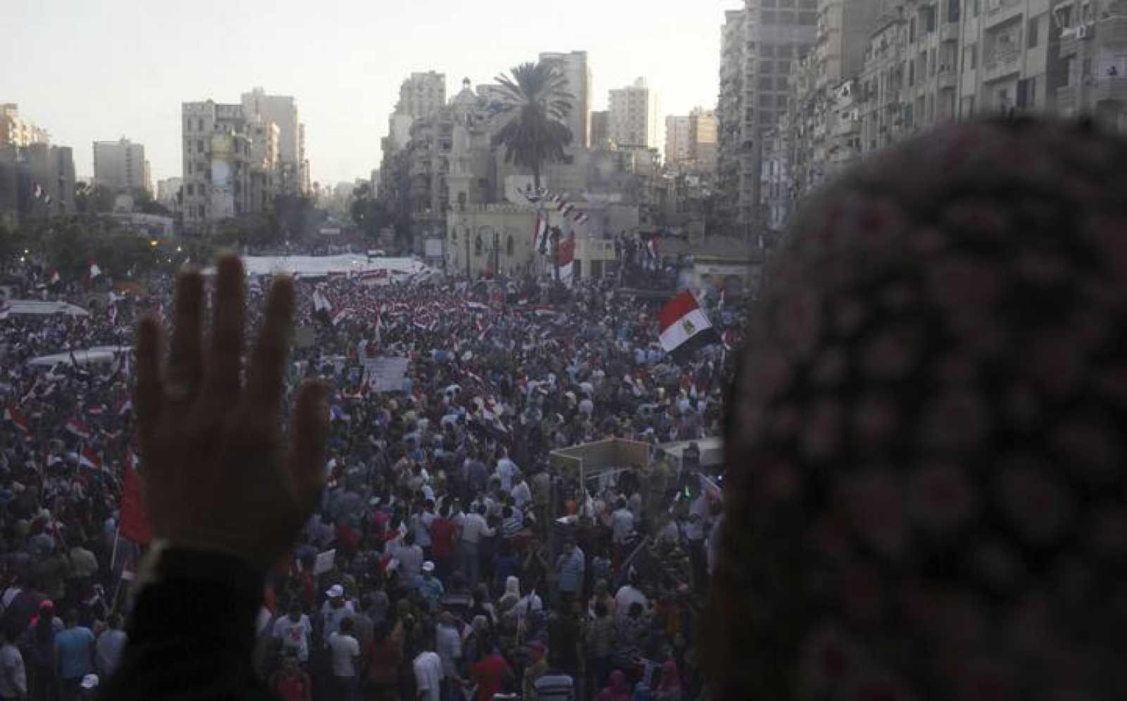 Imagen de las protestas contra Morsi en Alejandría, Egipto, el 1 de julio