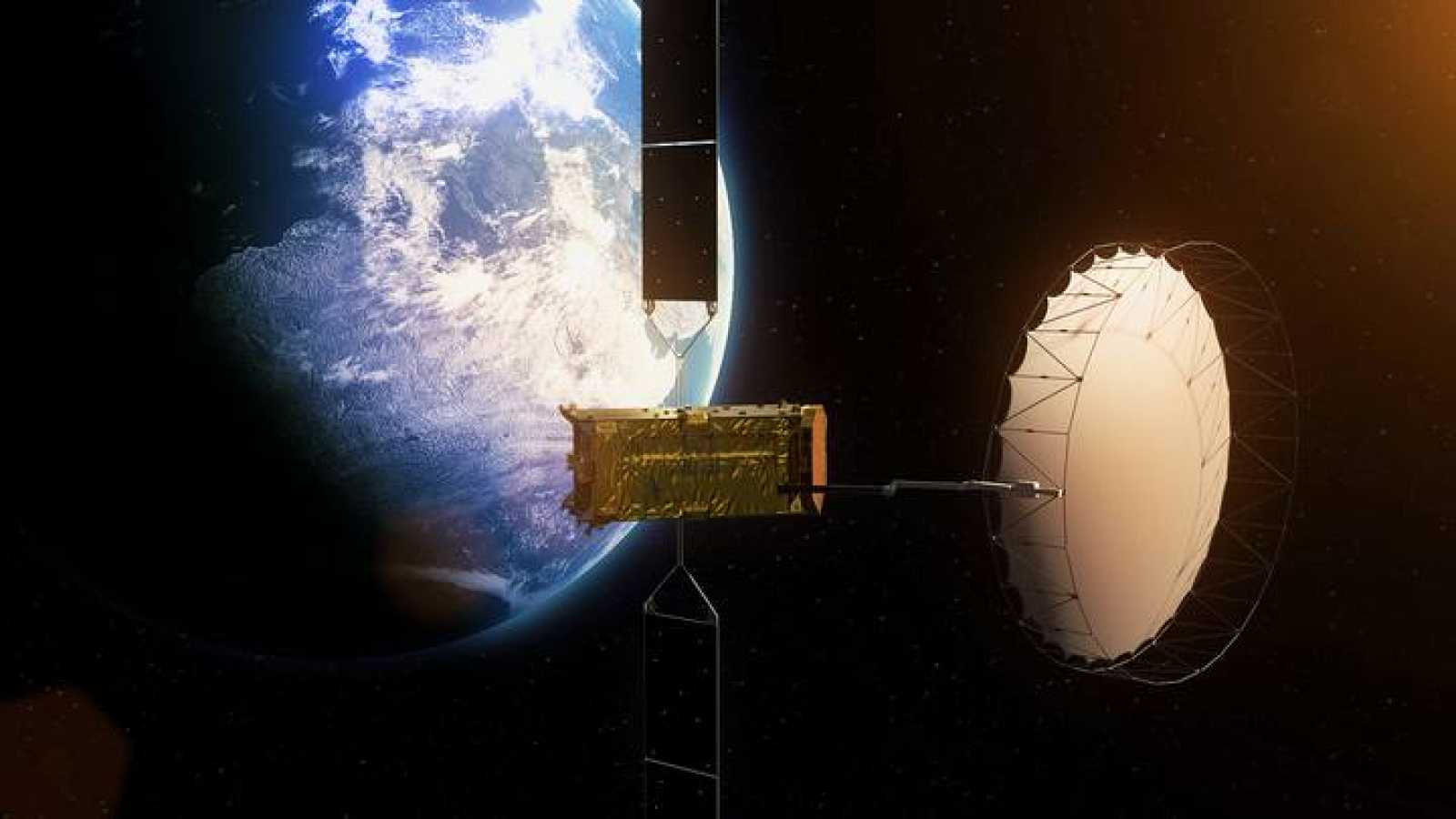 Impresión artística del Alphasat I-XL en órbita