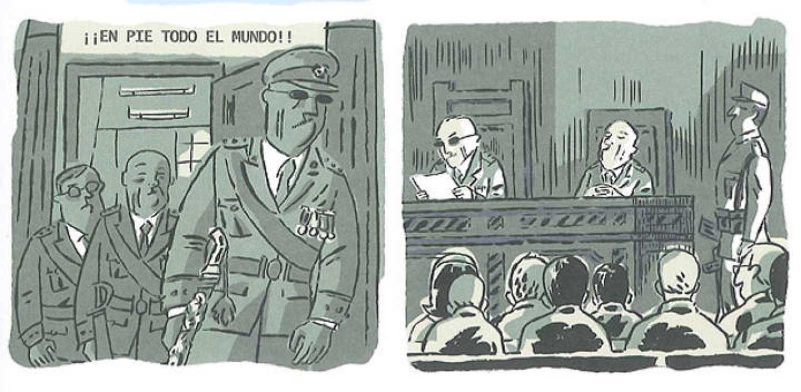 Viñetas de 'El pico de los cuervos. Matar a Franco', de Mikel Begoña e Iñaket