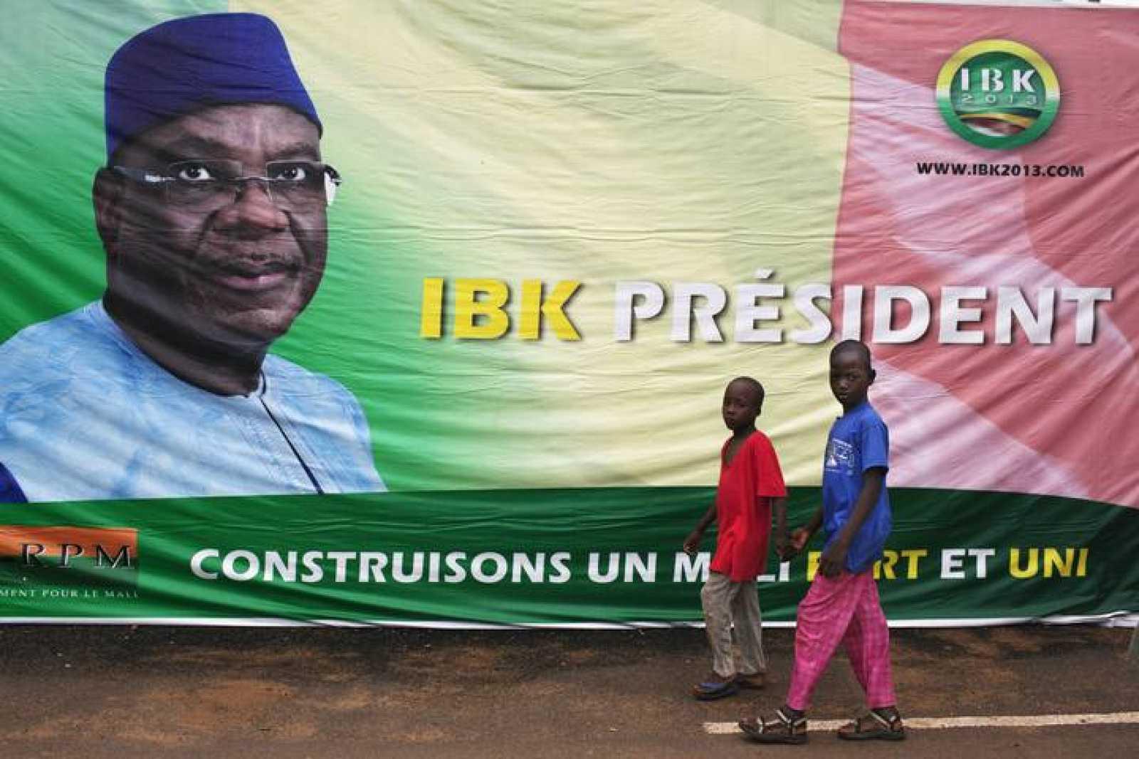 Cartel electoral de Ibrahim Boubacar Keita en Bamako, Mali