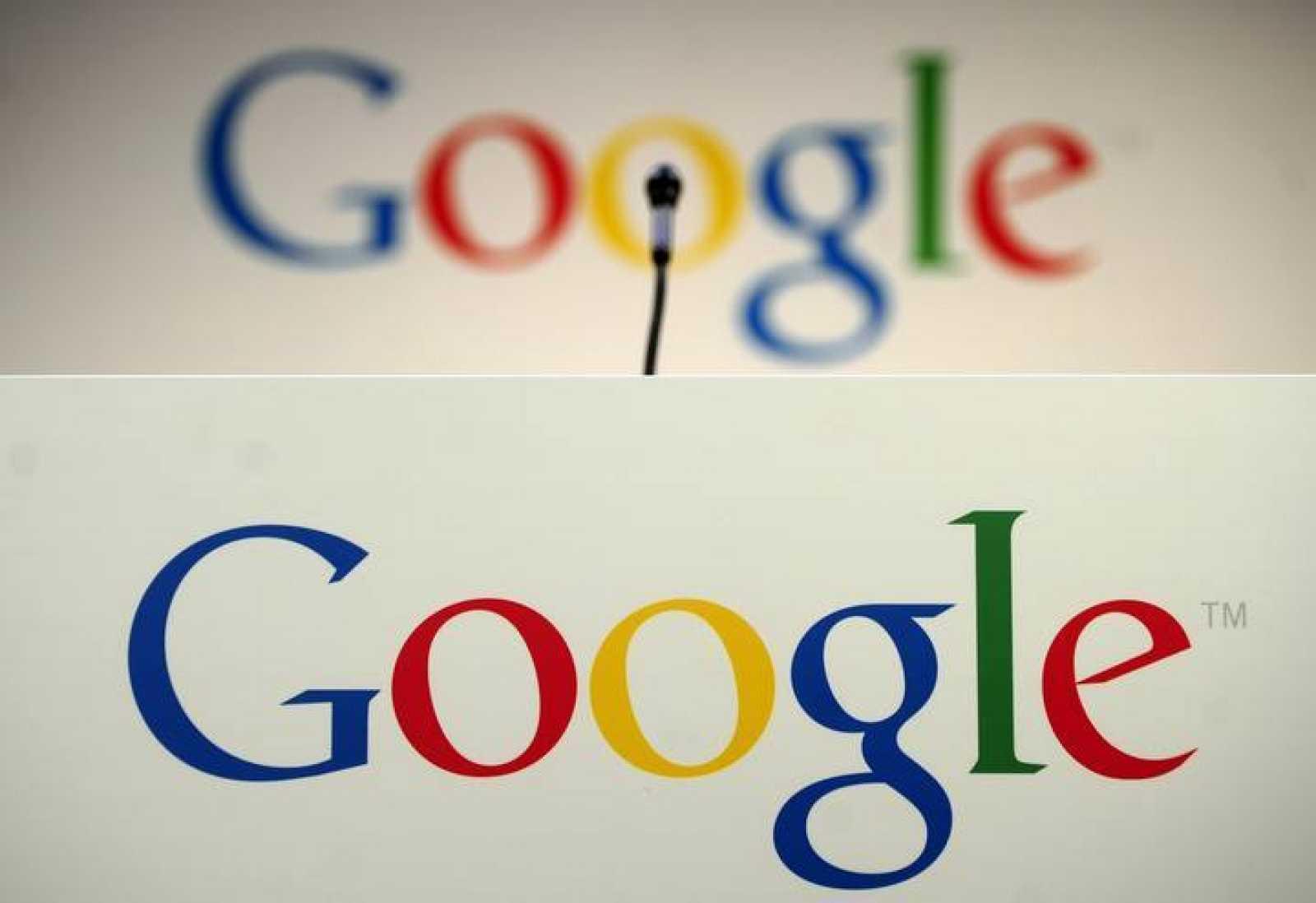Logos de Google durante una presentación en Nueva York en mayo de 2012.