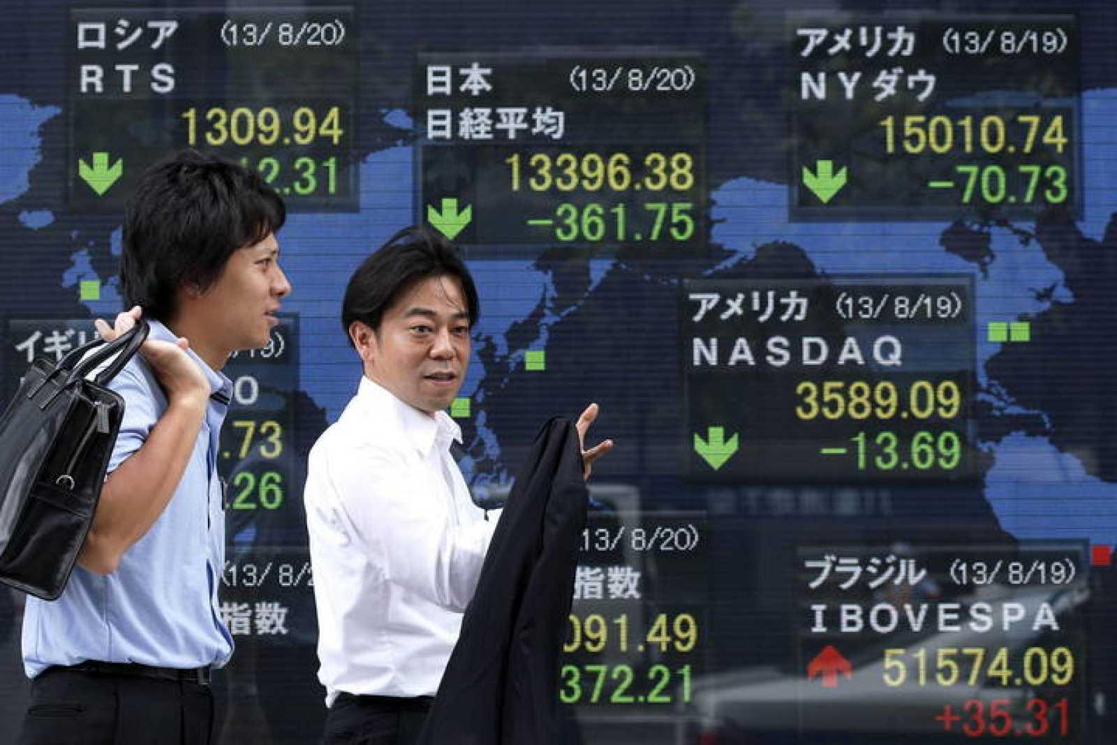 La Bolsa de Tokio ha cerrado su sesión del martes 20 de agosto con una caída del 2,63%