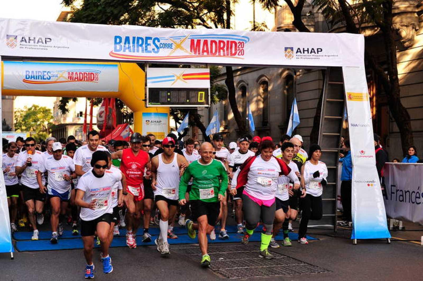 Un maratón popular hispano argentino apoyó a Madrid 2020 en Buenos Aires