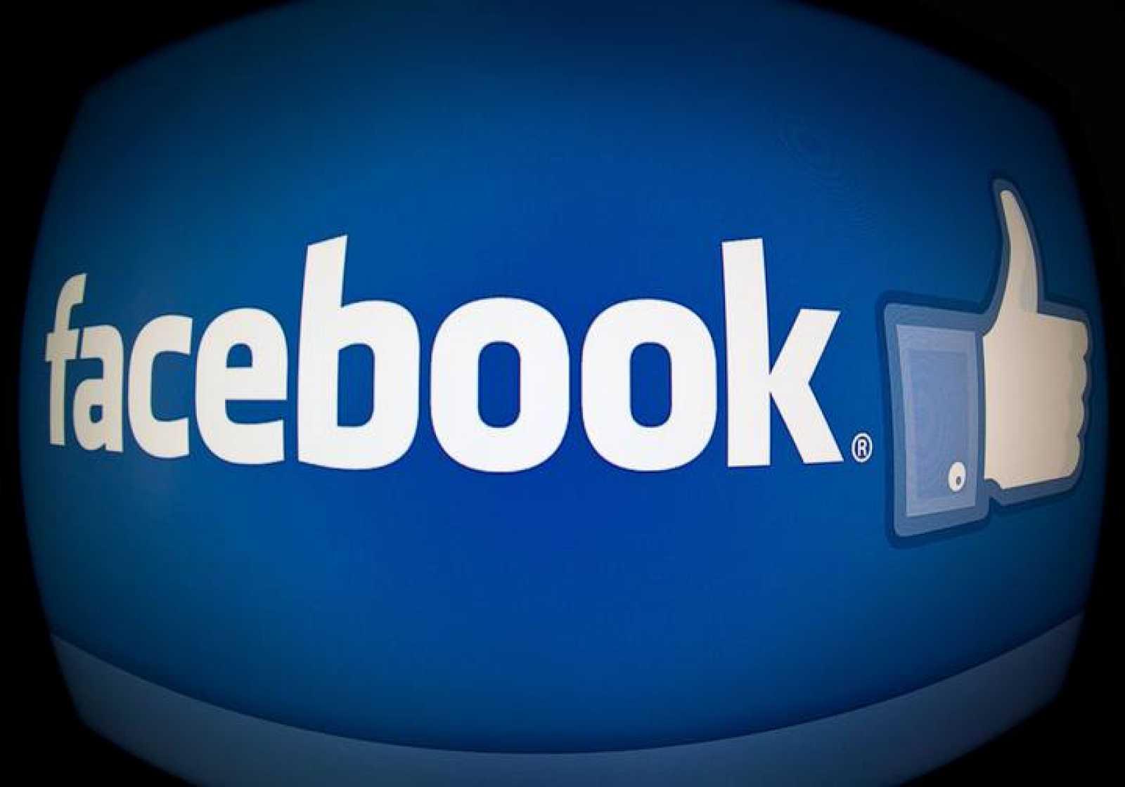 Página con el logo de Facebook.
