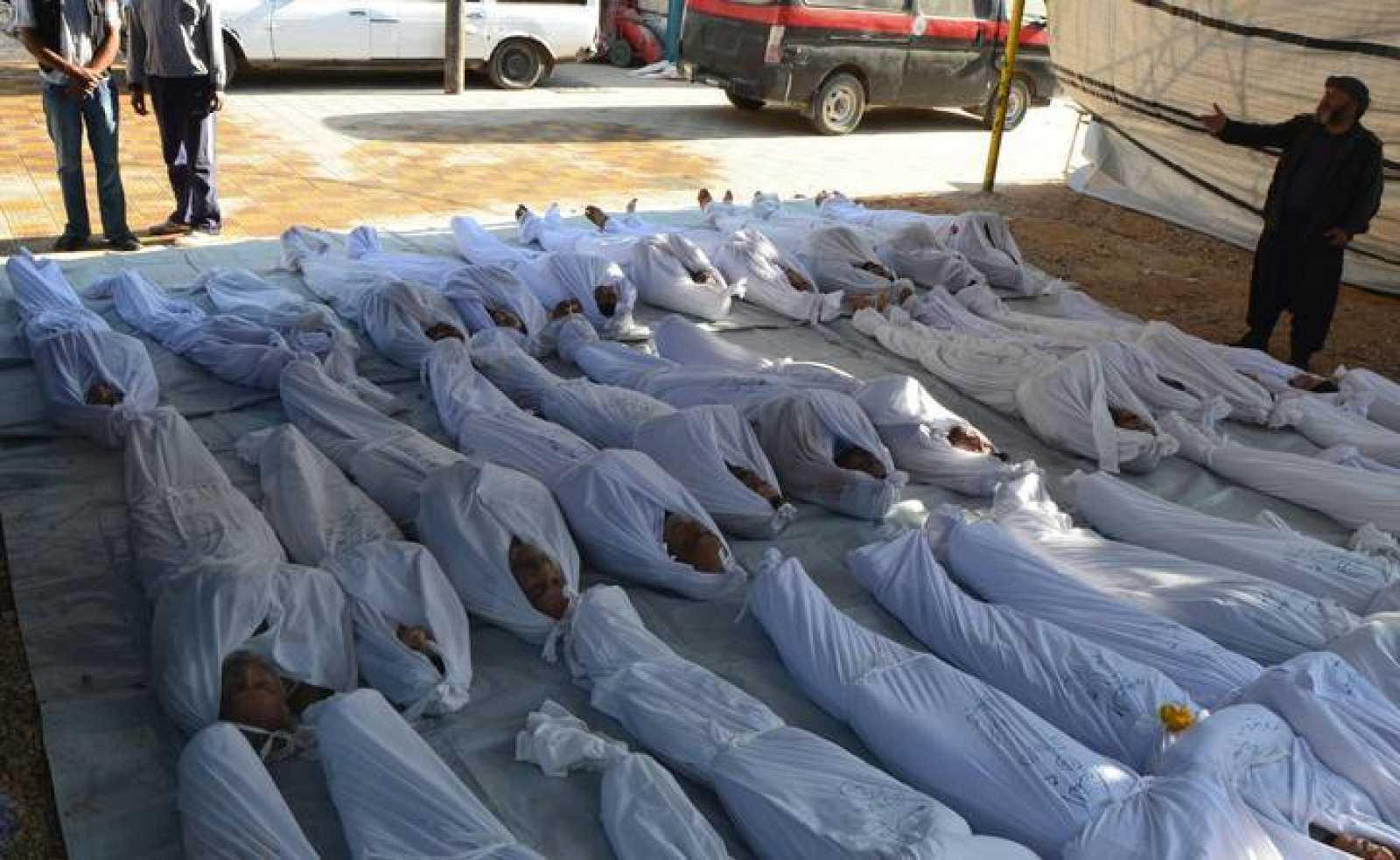 Médicos Sin Fronteras constató 355 muertos son síntomas de exposición a gases tóxicos.