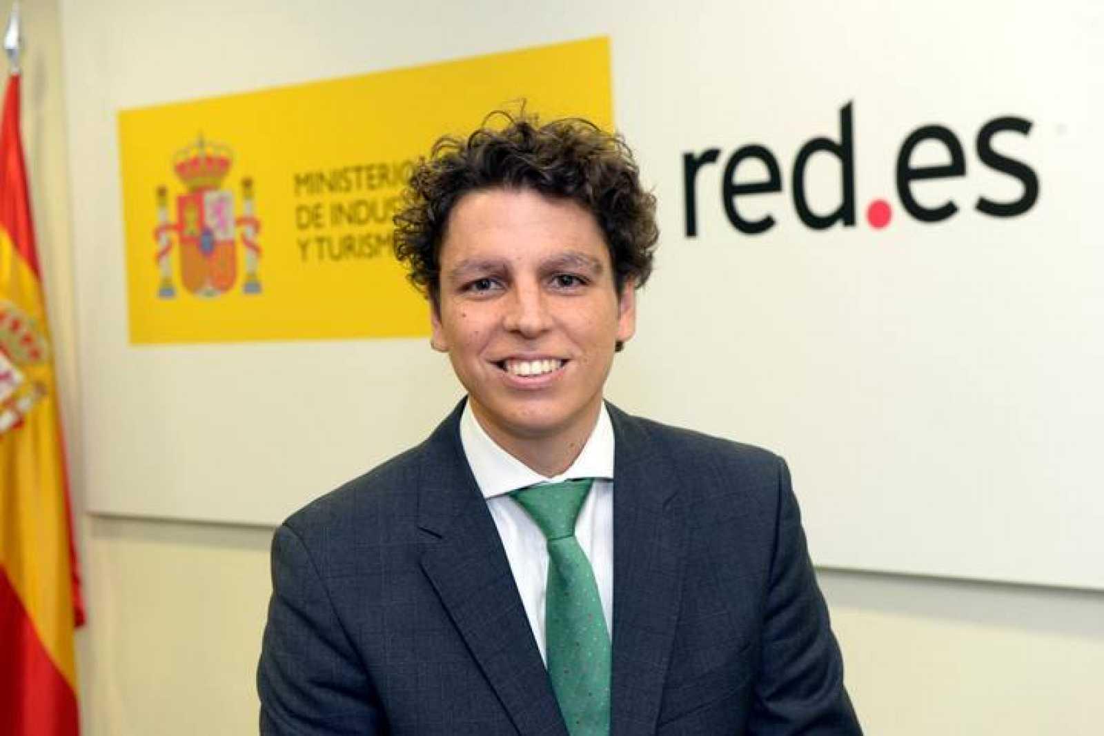 César Miralles en las oficinas de Red.es en Madrid.