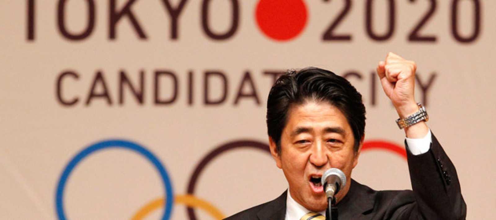 El primer ministro japonés, Shinzo Abe, promociona la candidatura de Tokyo 2020.