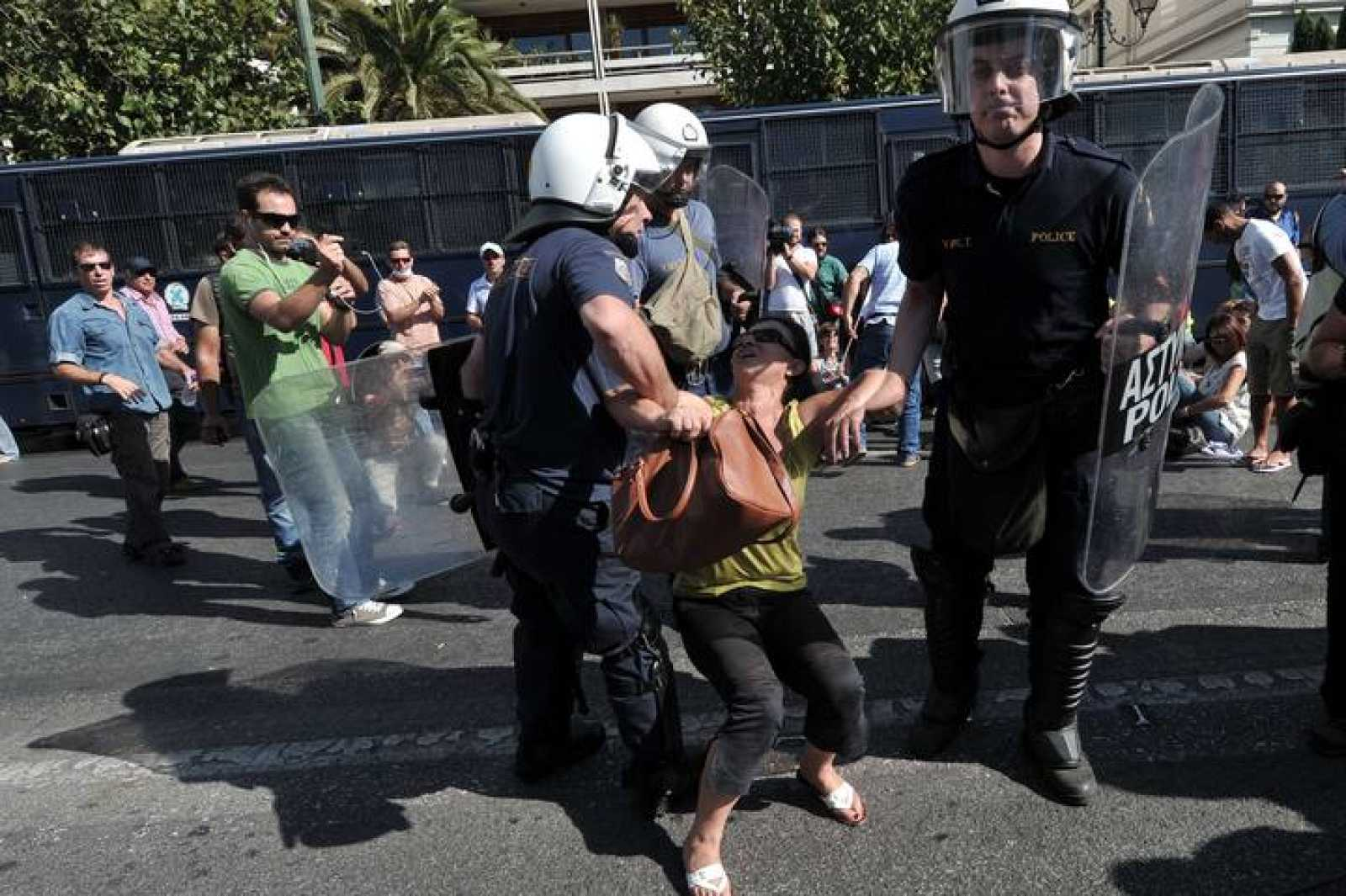Semana de huelgas en Grecia