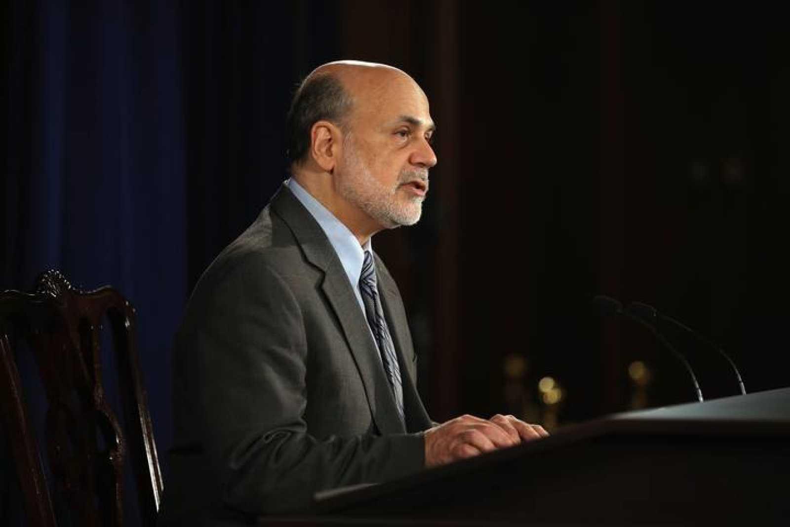 El presidente de la Reserva Federal, Ben Bernanke, durante la rueda de prensa posterior a la reunión del Comité Federal de Mercado Abierto