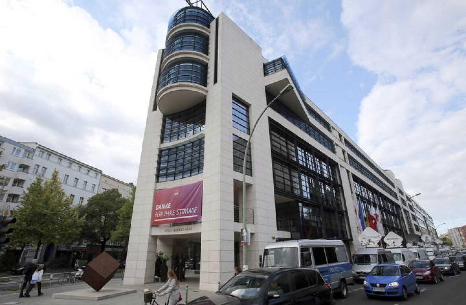 Imagen de la sede del Partido Socialdemócrata Alemán (SPD), en Berlín