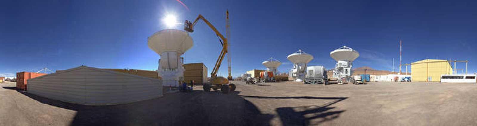Las instalaciones del Consorcio Europeo AEM en Chajnator en Chile