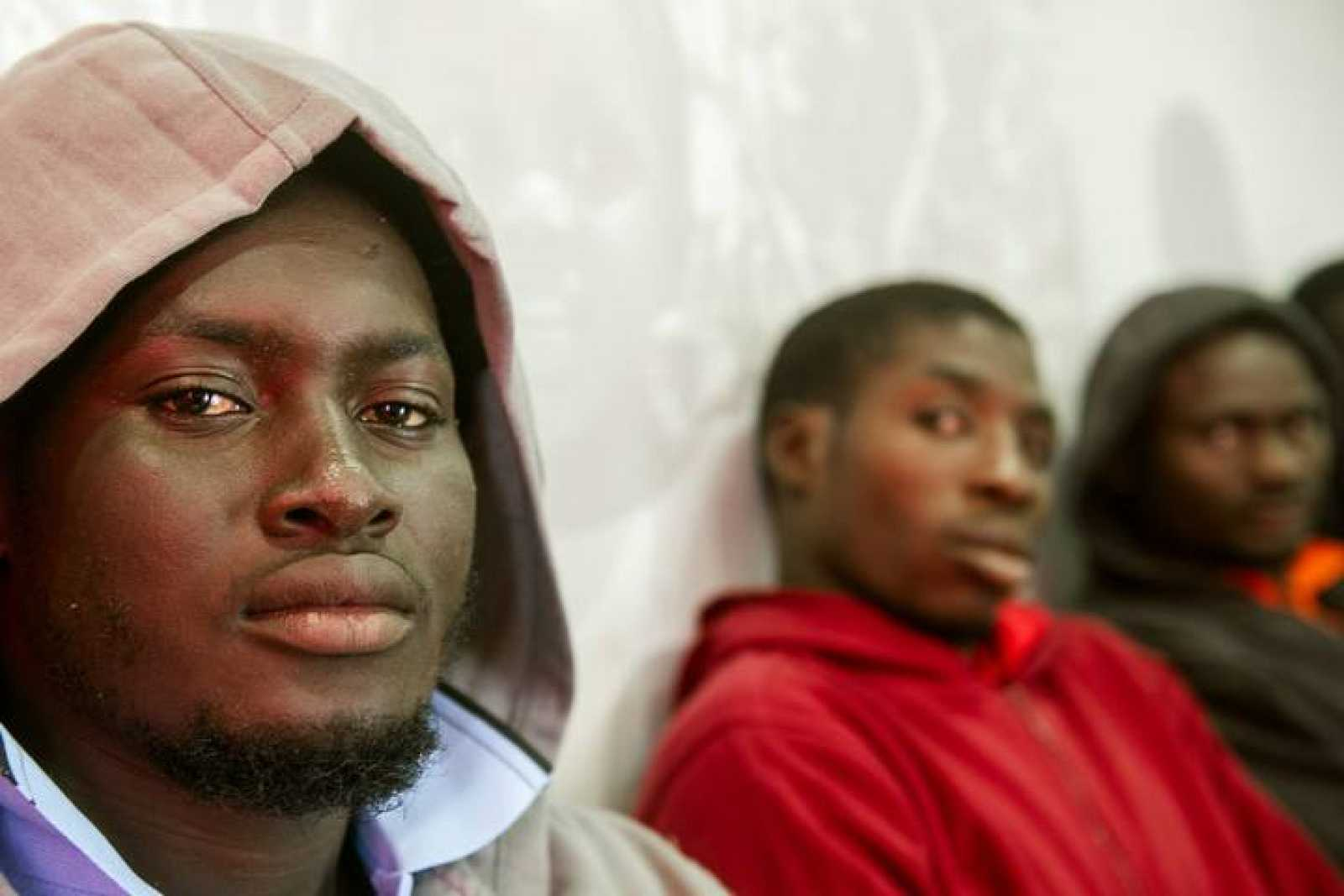 Inmigrantes en Tarifa, España