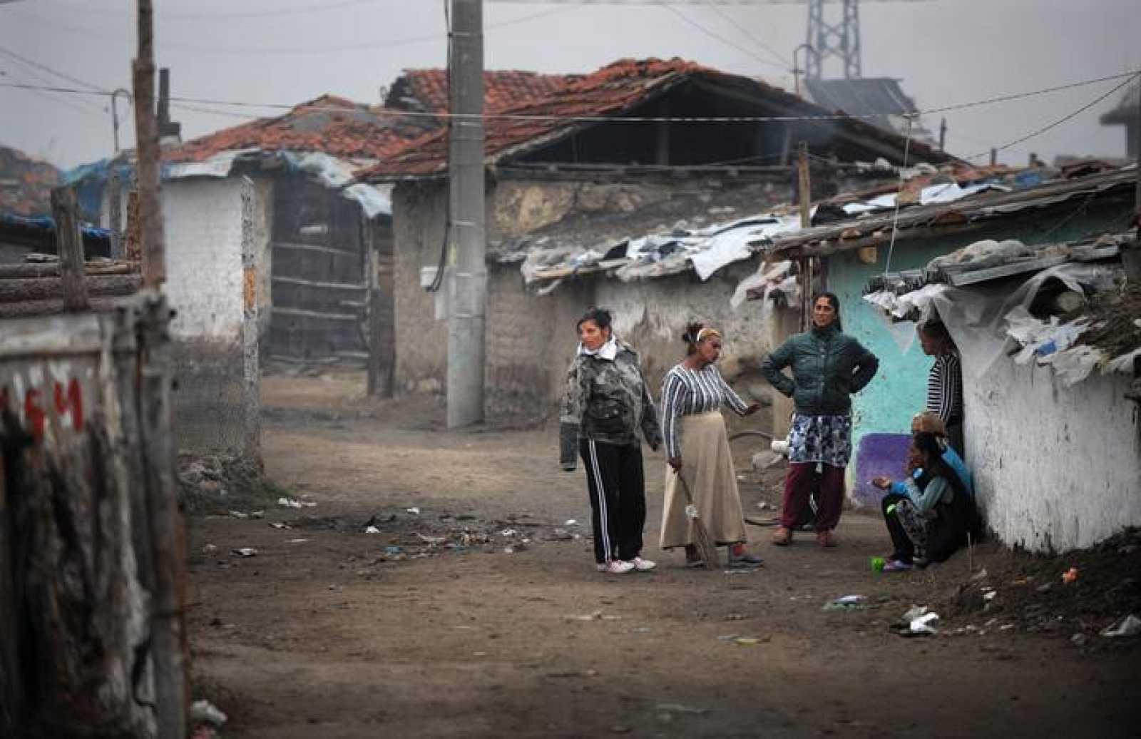 Gitanos búlgaros en Nikolaevo, centro de Bulgaria