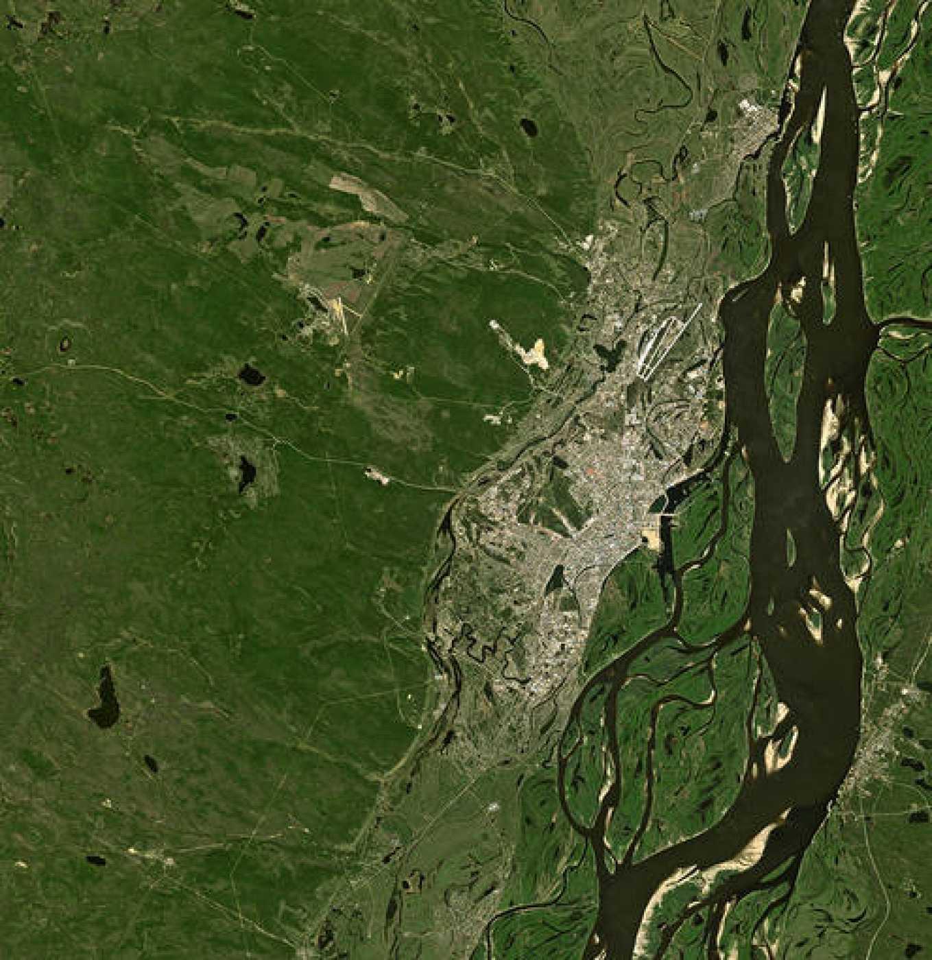 La República de Sajá, en el este de Rusia, captada por un satélite de la ESA.
