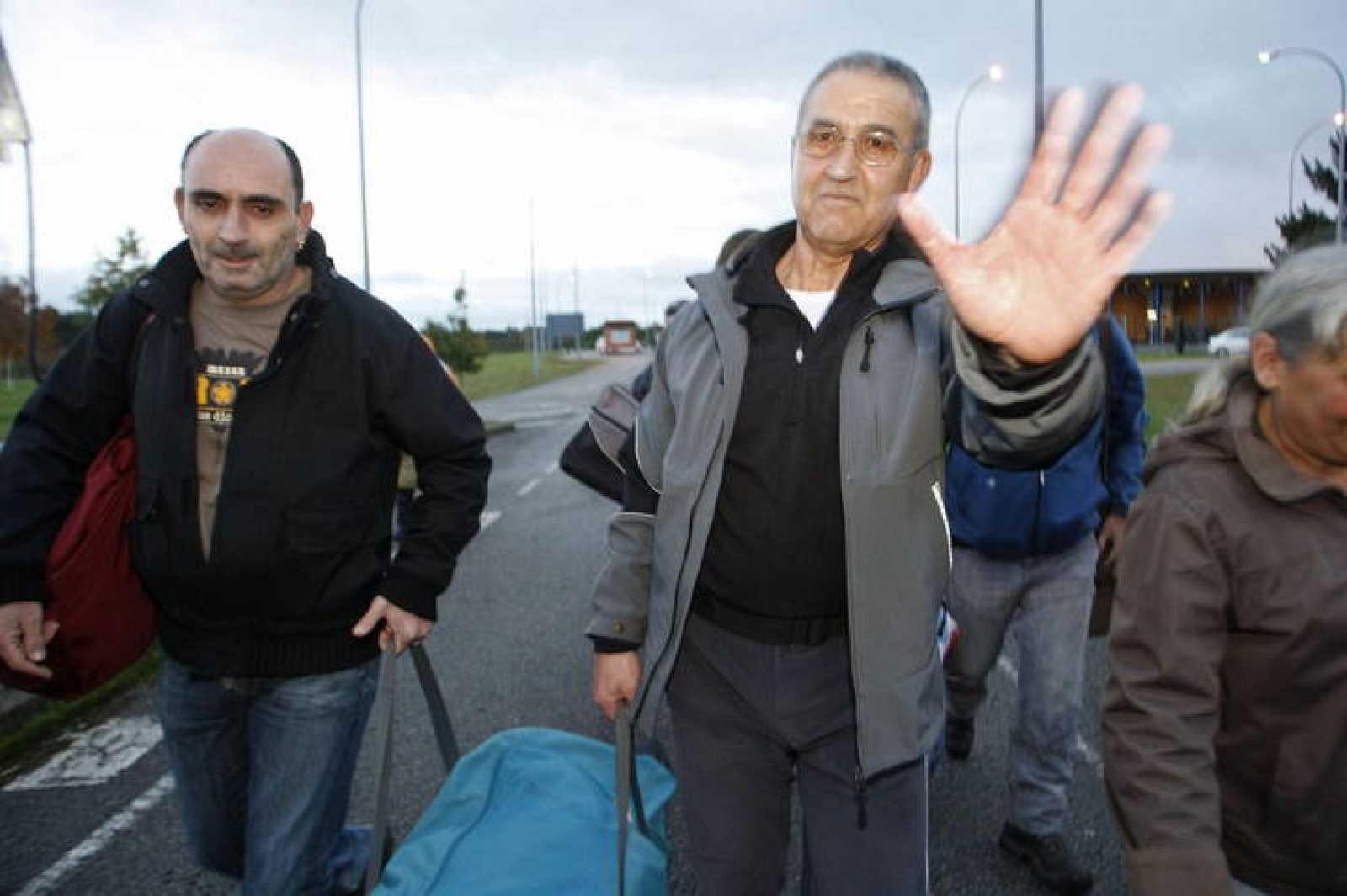 El etarra Domingo Troitiño a su salida de la prisión de Teixeiro