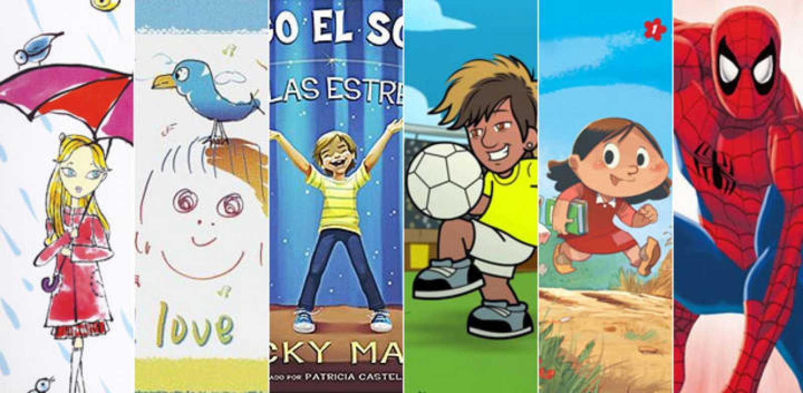 Ilustraciones de 'The English Roses', 'Real Love', 'Santiago el soñador, entre las estrellas', 'Neymar Jr., 'Marieta. Los recuerdos de Naneta' y 'Superhéroes Marvel. Los 100 imprescindibles'