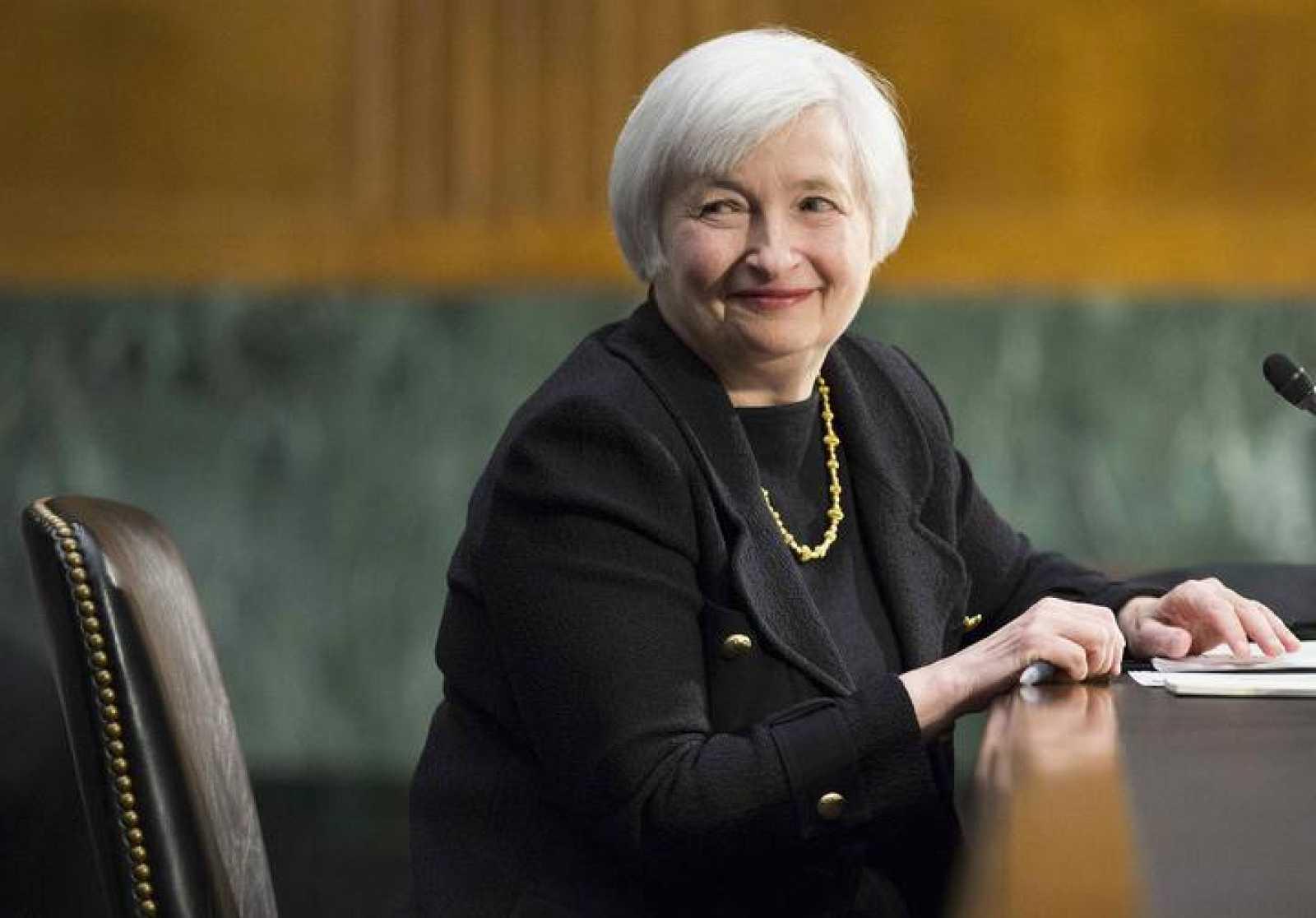 Janet Yellen ante el comité bancario del Senado de Estados Unidos
