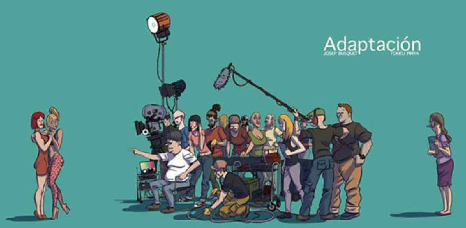 Ilustración para la protada de 'Adaptación'