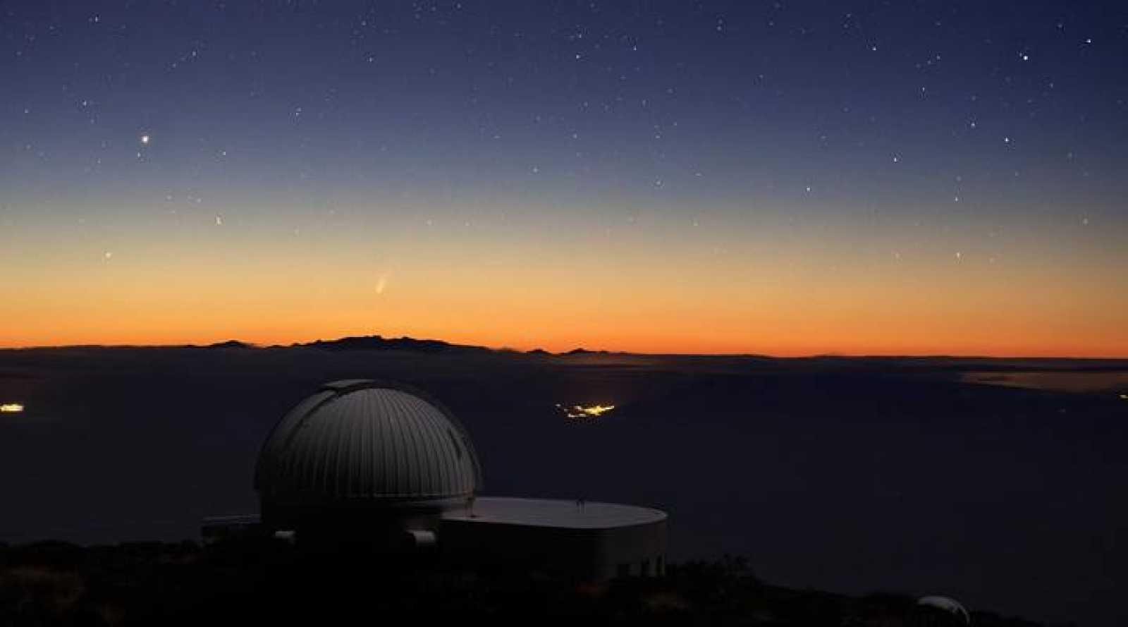 Imagen del Cometa ISON la madrugada del 24 de noviembre