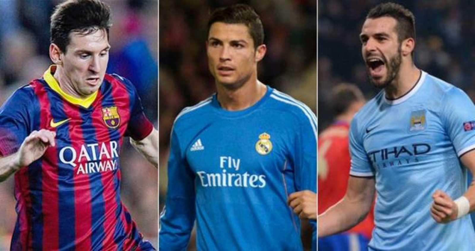 Messi, Cristiano y Negredo .