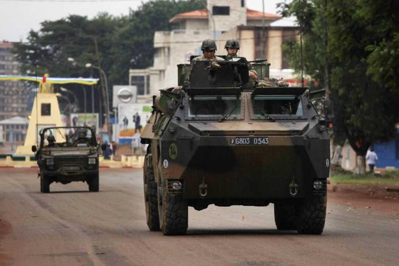Las tropas francesas entran en Bangui