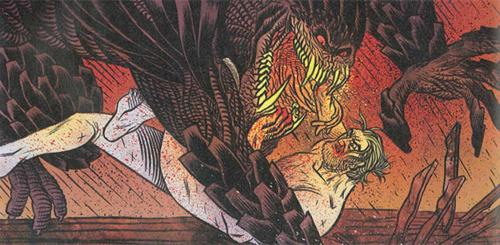 Fragmento de una viñeta de 'Beowulf'
