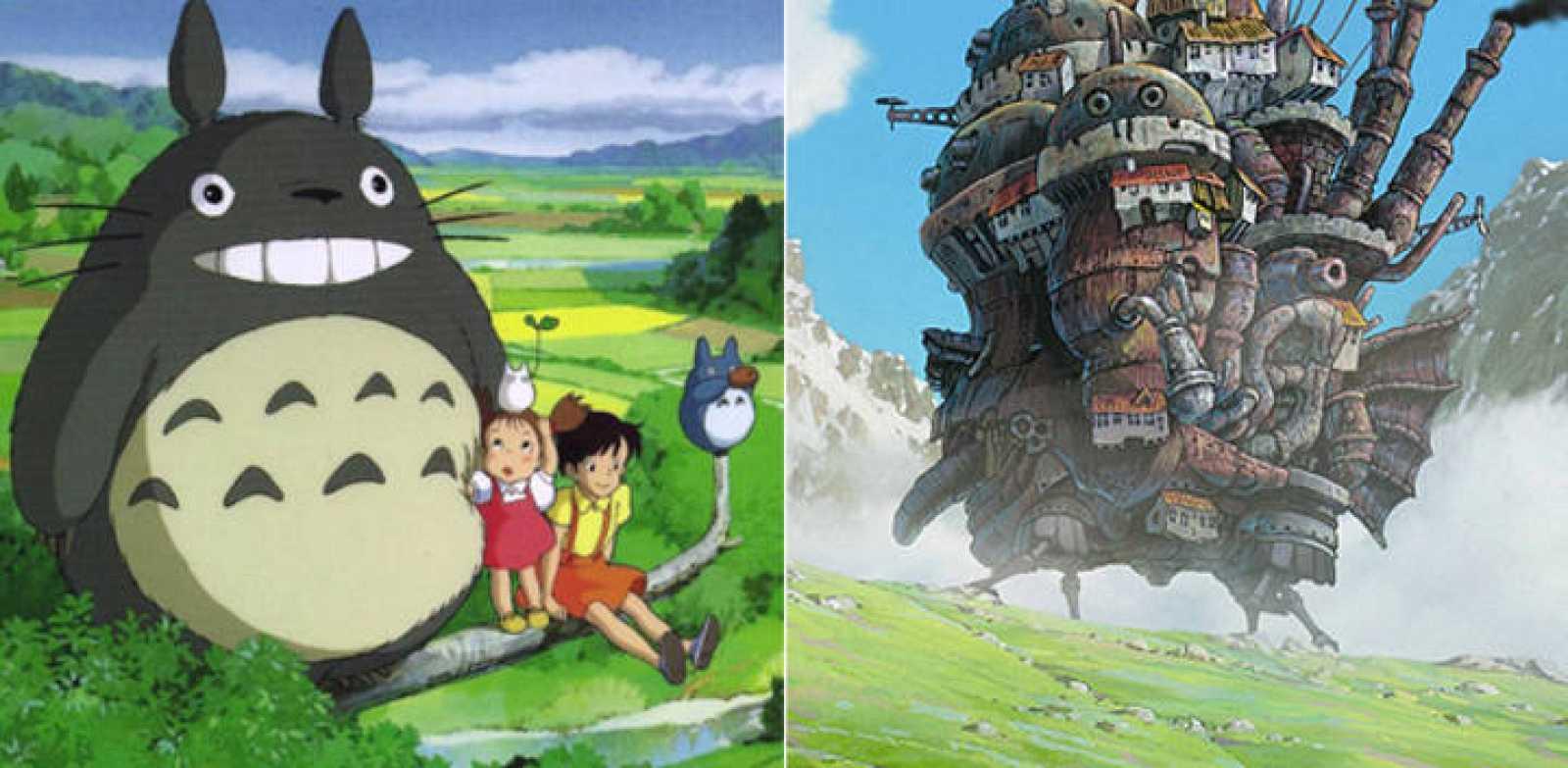 Imágenes de 'Mi vecino Totoro' y 'El castillo ambulante'
