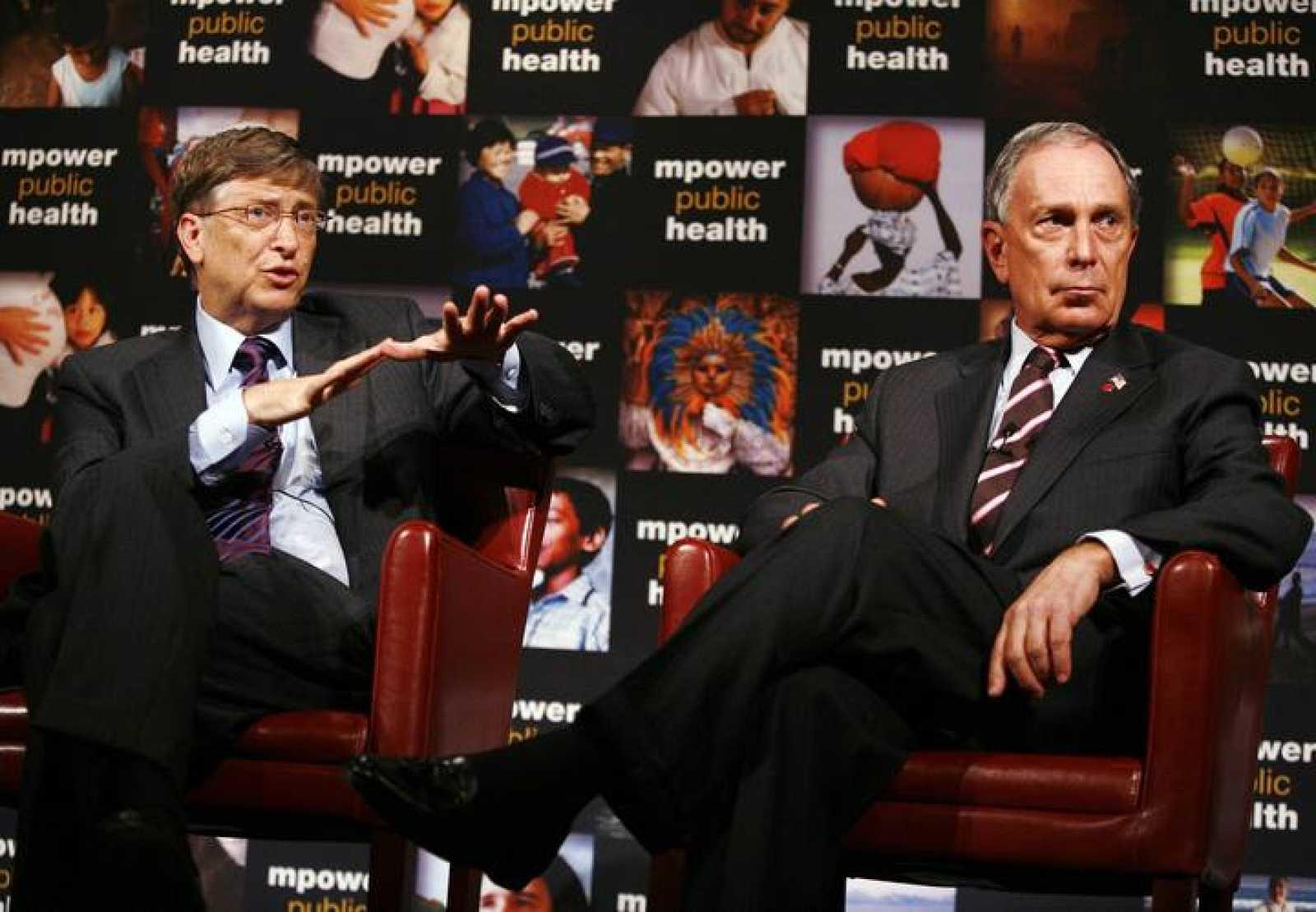Bill Gates junto a Michael Bloomberg, alcalde de Nueva York