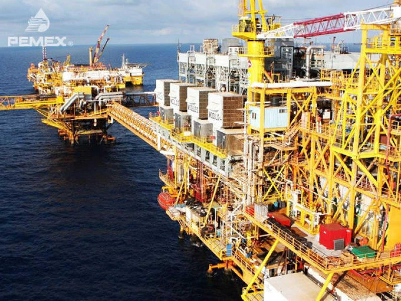 Complejo Ku Maloob Zaap en la Sonda de Campeche, el mayor productor de petróleo de México