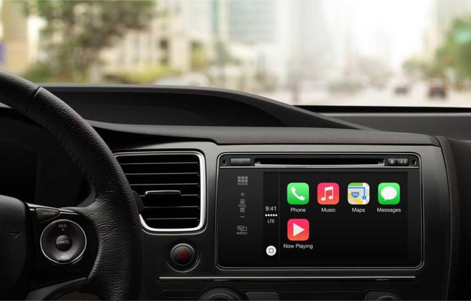 El sistema Carplay integrado en un vehículo.