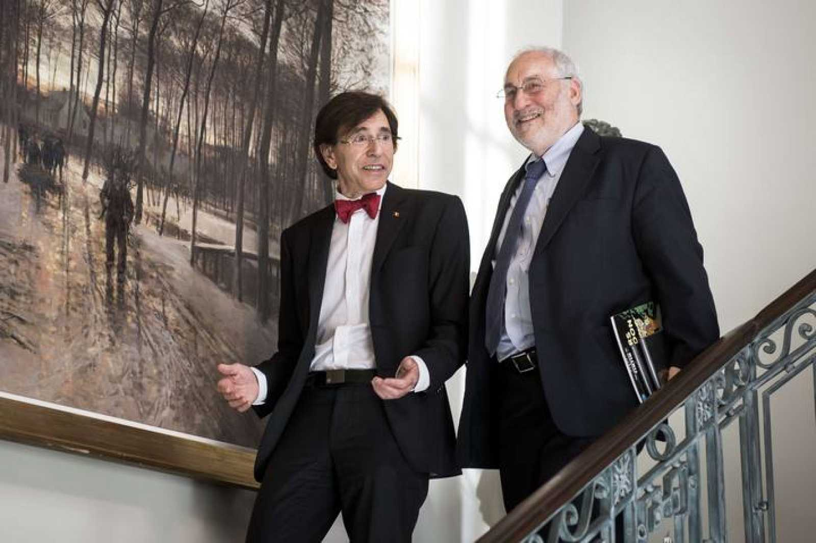 El Nobel de Economía Joseph Stiglitz, en Bruselas