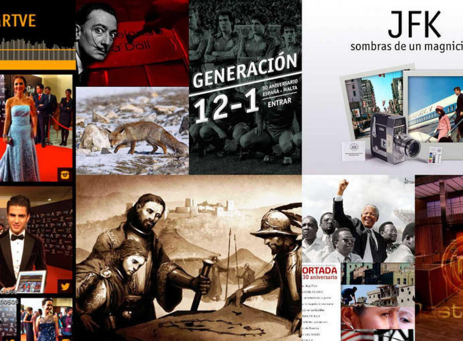 Imagen de algunos de los últimos trabajos del Lab de RTVE.es
