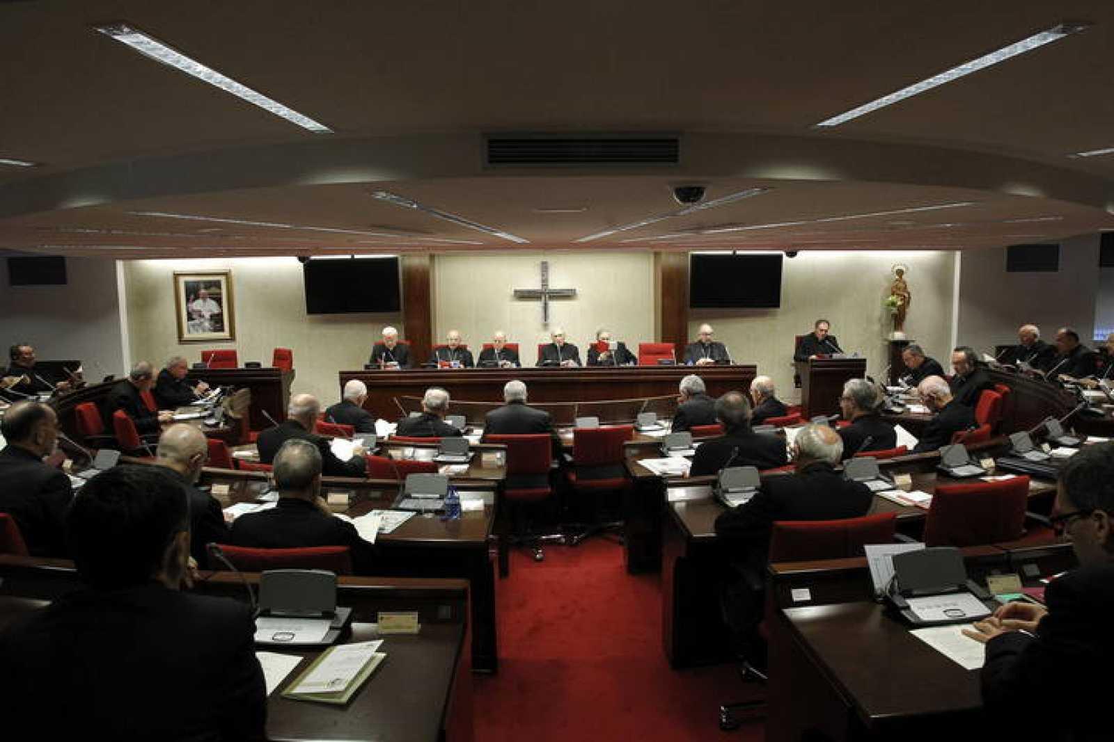 Imagen de la inauguración de la asamblea plenaria de la Conferencia Episcopal Española, que elegirá al sucesor de Rouco Varela en la presidencia.