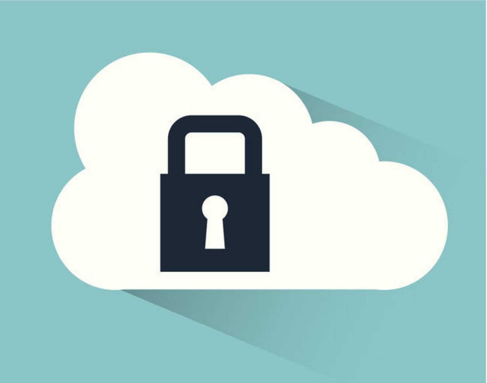 Ilustración sobre la seguridad en la nube.