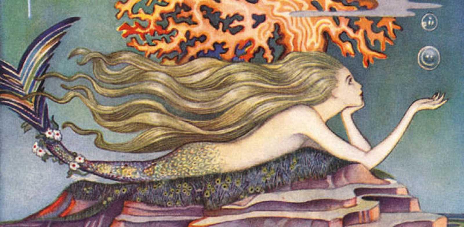 Fragmento de una ilustración para 'La Sirenita', de la artista británica Jennie Harbour, 1932.