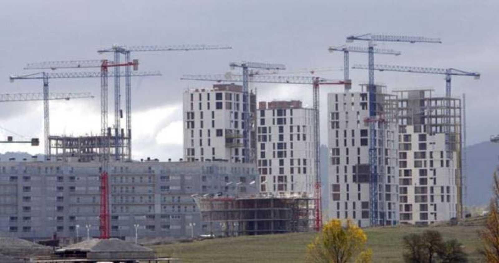 Obras en marcha de bloques de viviendas