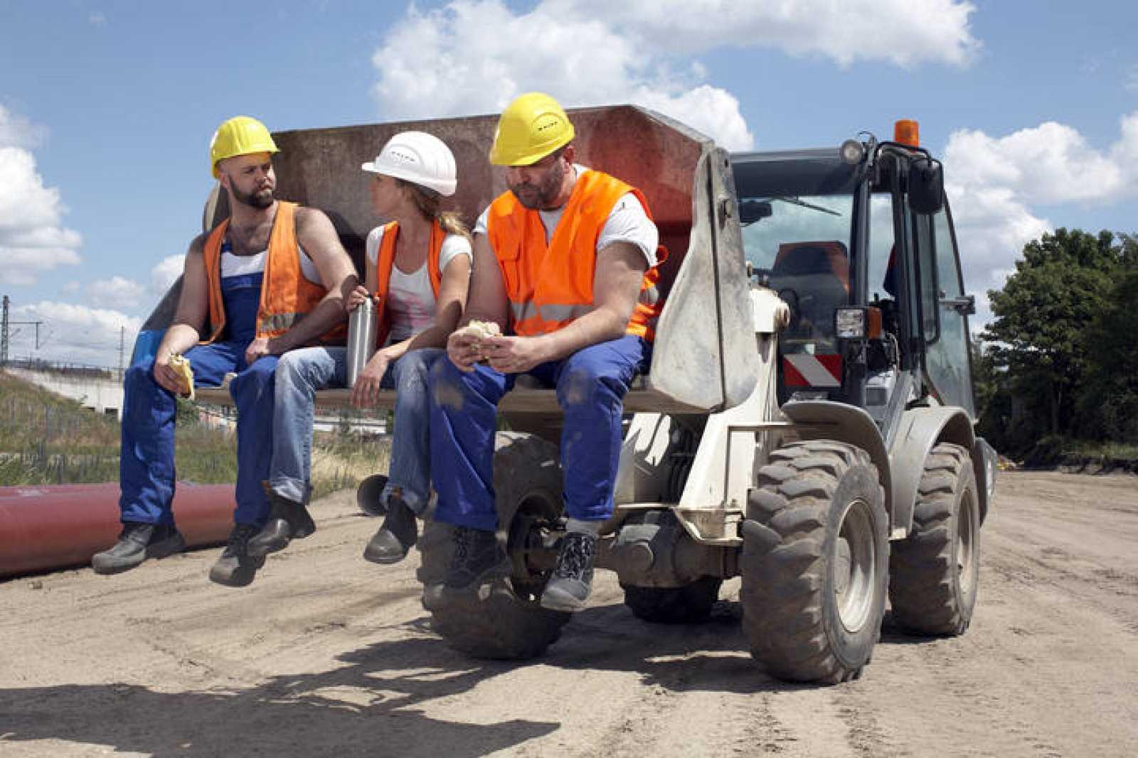 Trabajadores de la construcción en Alemania