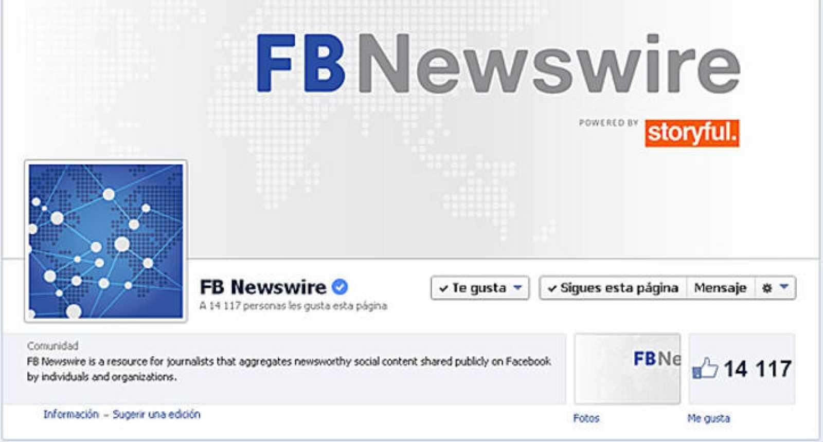 Imagen del perfil de Newswire en Facebook.